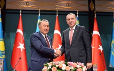 Joint press briefing following the talks between the Presidents of Kazakhstan and Turkey