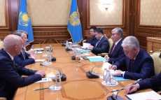 President of Kazakhstan receives Ben van Beurden, CEO of Royal Dutch Shell