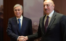 The Head of State meets President of Azerbaijan Ilham Aliyev