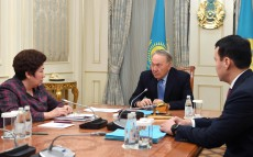 Meeting with Kulyash Shamshidinova, Chairwoman of Nazarbayev Intellectual Schools' Board
