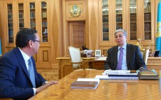 Kassym-Jomart Tokayev receives  Ahylbek Kurishbaev, Rector of the Kazakh Agrotechnical University