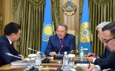 Meeting with the head of Turkic Academy Darkhan Kydyrali