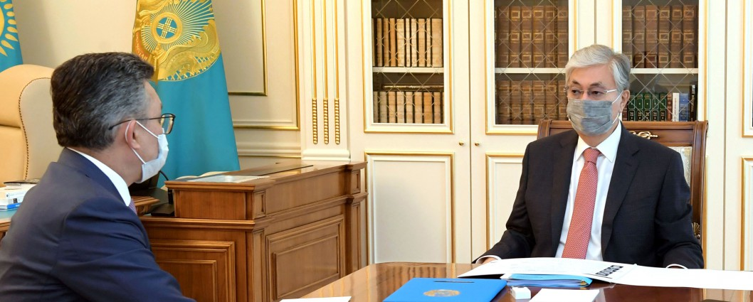 The Head of State receives Minister of Trade and Integration Bakhyt Sultanov