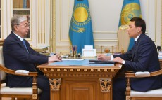 The Head of State received Mayor of Nur-Sultan Altai Kulginov